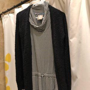 Sleeveless Mock-Neck Dress